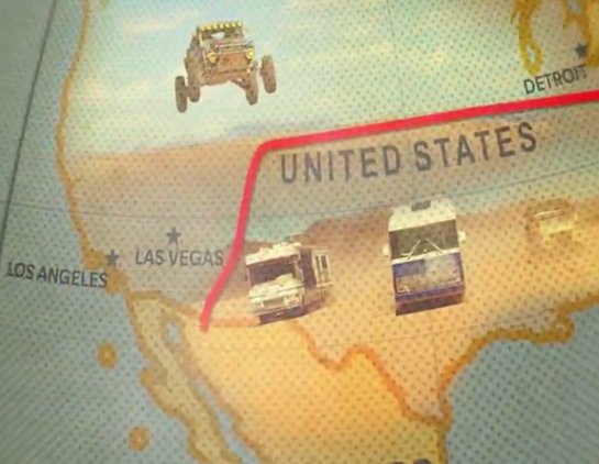 The Grand Tour – Las Vegas on the map series logo (title)