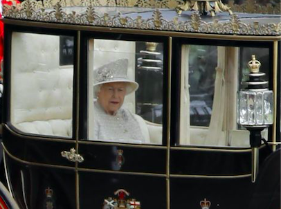 The Queen Elizabeth II on Trooping the Colour 2019-06-08 (title). Credit: BBC/Tolga Akmen/AFP/Getty Images