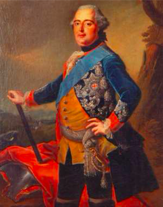 Painting of Ferdinand, Prince of Brunswick-Lüneburg with the order of the Garter, by J. H. Tischbein in 1765. Credit: H. Skala/Castle of Hořovice in the Czech Republic
