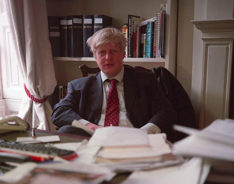 Boris Johnson in his great journalism days. Credit: Neville Elder/Corbis via Getty Images​​​​​​​