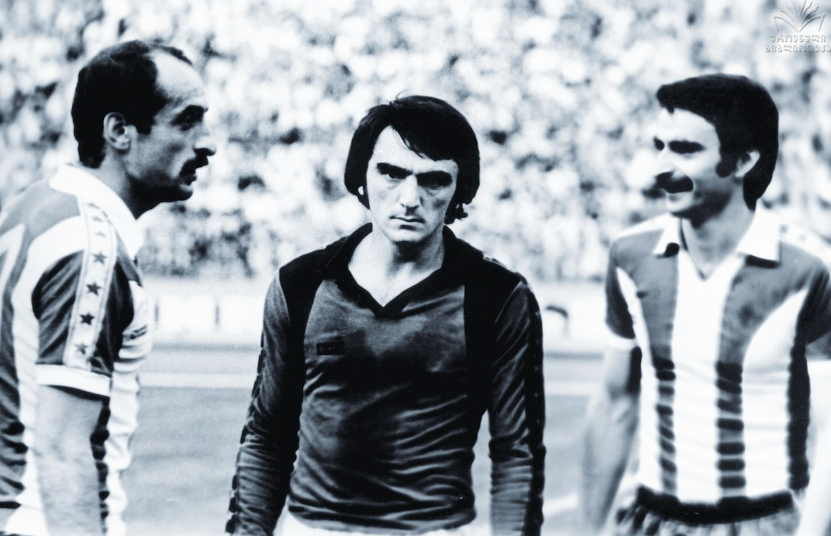 David Kipiani, Otar Gabelia, and Aleksandre Chivadze in 1979. Credit: NPLG
