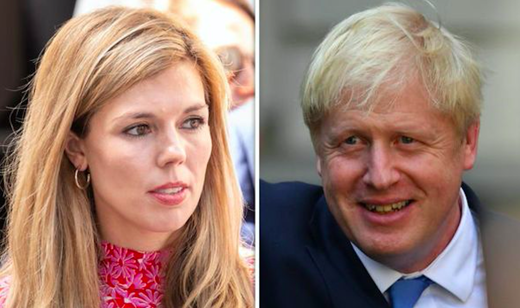 Carrie Symonds and Boris Johnson moving into a flat in No11 Downing Street. Credit: Getty