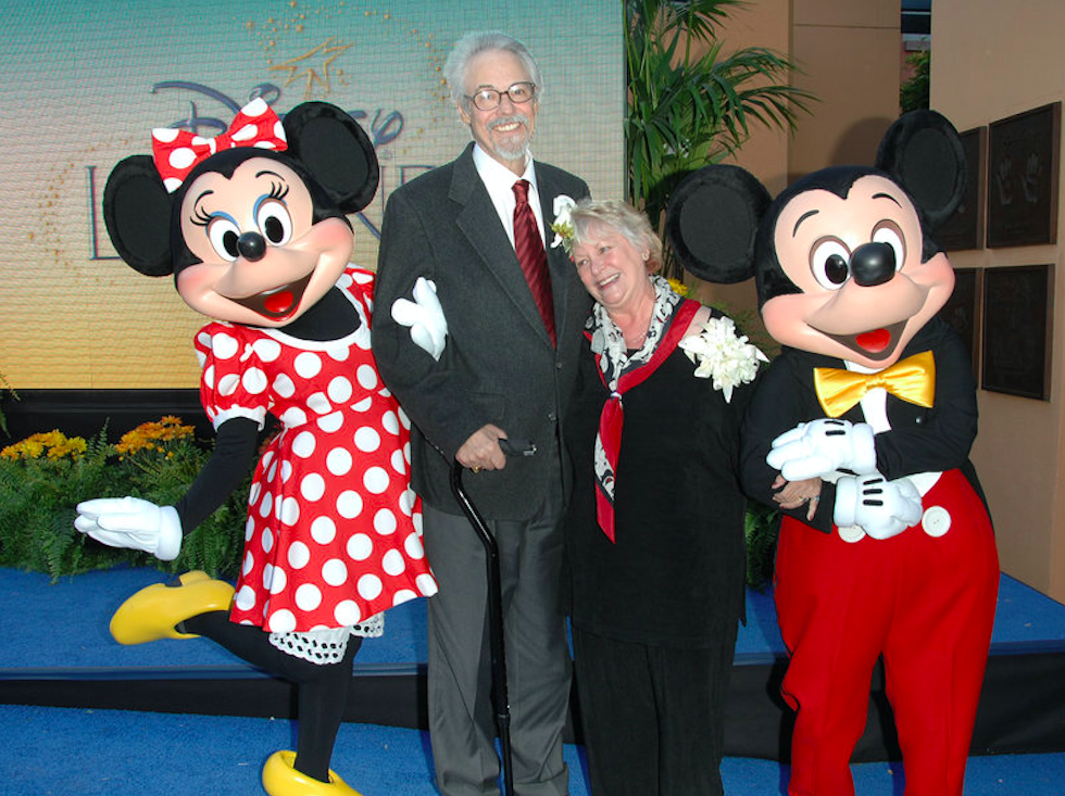 Russi Taylor and Wayne Allwine with their characters, Minnie and Mickey Mouse, at the 2008 Disney Legends Ceremony at the Walt Disney Studios in Burbank, CA. Credit: Stephen Shugerman/Getty Images