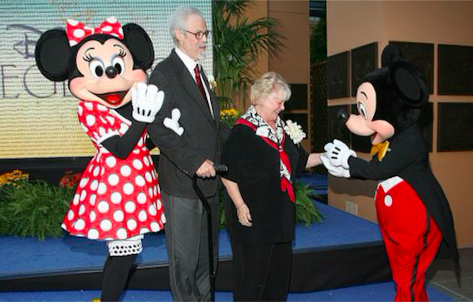 Wayne Allwine and Russi Taylor attend the Disney Legends ceremony in 2008. Credit: BBC/Getty Images
