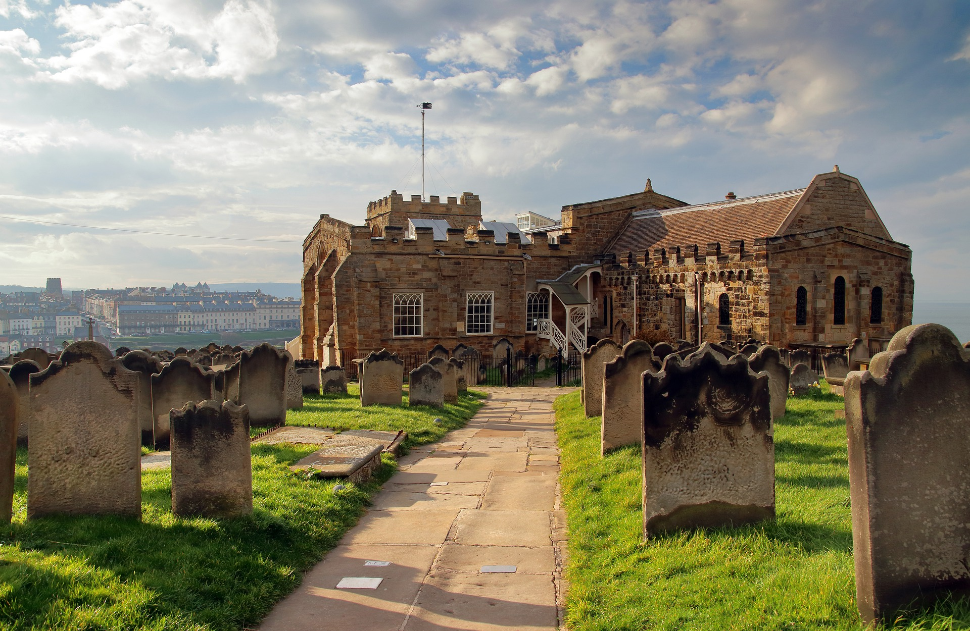 "Bram Stoker used St Mary's Church graveyard as the setting for a scene in his novel ""Dracula"". Credit: Pete Emphyrio"
